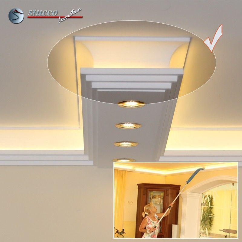 Gerades Endstück für direkte und indirekte Beleuchtung Dortmund 190+2x209 PLEXI PLUS mit LED Beleuchtung