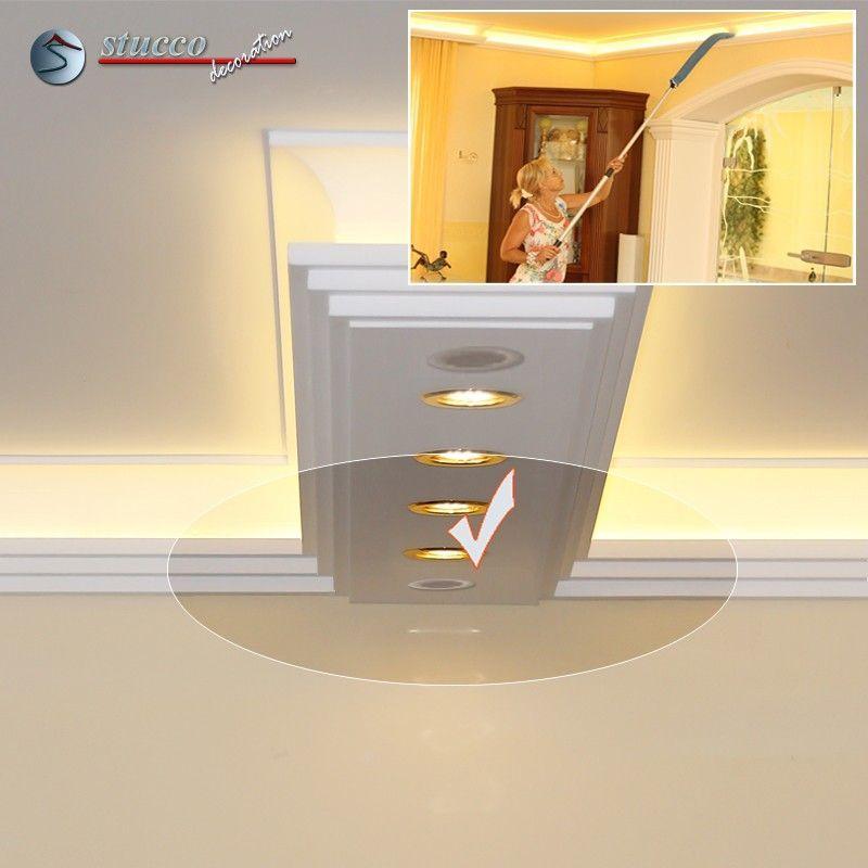 Verbindungsstück mit Lüftungsgitter für direkte und indirekte Beleuchtung Dortmund 190+2x209 PLEXI PLUS und LED Beleuchtung