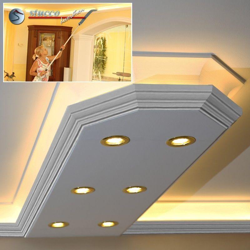 LED Stuckprofil 'Essen 400+2x202 PLEXI PLUS' mit abgeschrägten Endstück