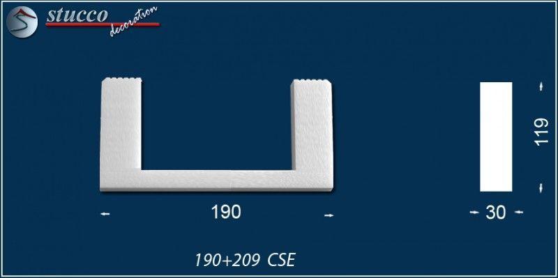 Fixierungsstück aus Styropor 190+209-CSE