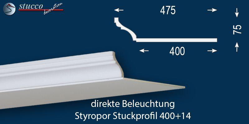 Stuckprofil für direkte Beleuchtung Trier 400+14