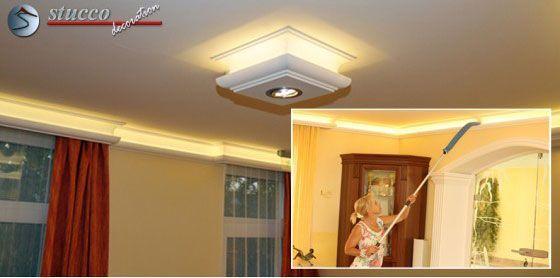 Der neueste Wohntrend: LED Wandbeleuchtung mit Stuckleisten
