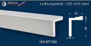 L-Profil für Laibung und Faschen Bangkok 103-KT 155-165 mm