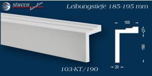 L-Profil für Laibung und Faschen Bangkok 103-KT 185-195 mm