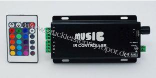 LED RGB Musik Controller mit IR Fernbedienung