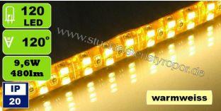 SMD 3528 LED Strips 120 LEDs/m warmweiß 9,6W/m IP20
