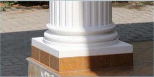 Säulenfüße für Dekosäulen mit Beschichtung