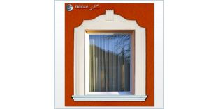 3. Fassaden Idee mit Außenstuck für Türverzierung / Fensterverzierung