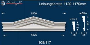 Fassadenstuck Dreieckbekrönung Frankfurt 108/117 1120-1170