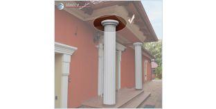 124. Fassaden Idee: Säulenverkleidung zur Fassadendekoration