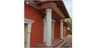 123. Fassaden Idee: Säulenverkleidung zur Fassadengestaltung