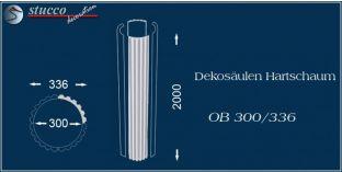 Dekosäulen-Viertel Hartschaum OB 300/336