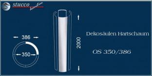 Dekosäulen-Viertel Hartschaum OS 350/386