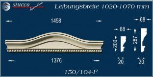 Fassadenelement Bogengiebel Augsburg 150/104F 1020-1070