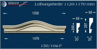 Fassadenelement Bogengiebel Alsfeld 150/104F 1120-1170