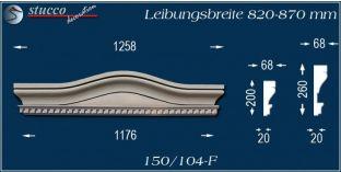 Fassadenelement Bogengiebel Bonn 150/104F 820-870