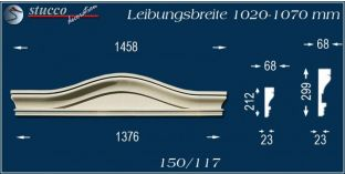 Fassadenelement Bogengiebel Brüel 150/117 1020-1070