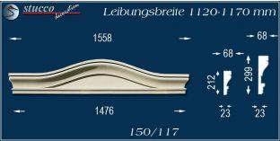 Fassadenelement Bogengiebel Bützow 150/117 1120-1170