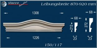 Fassadenelement Bogengiebel Erfurt 150/117 870-920