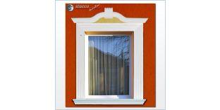 112. Fassaden Idee mit Außenstuck zur Fensterumrandung / Türumrandung