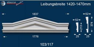 Fassadenstuck Tympanon Dreieckbekrönung Berlin 103/117 1420-1470
