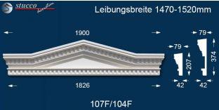 Fassadenstuck Tympanon Dreieckbekrönung Leipzig 107F/104F 1470-1520