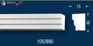 Beschichtetes Fensterbankprofil Idaho 105