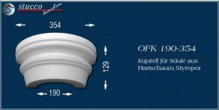 Kapitell-Hälfte für Säule aus Hartschaum Styropor OFK 190/354