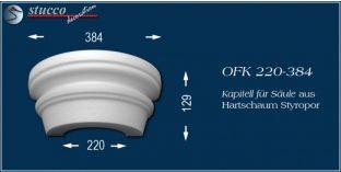 Kapitell-Hälfte für Säule aus Hartschaum Styropor OFK 220/384