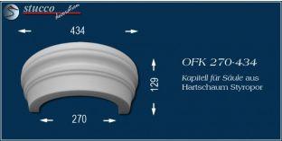 Kapitell-Hälfte für Säule aus Hartschaum Styropor OFK 270/434