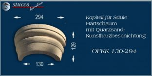 Kapitell-Hälfte für Dekosäule mit Beschichtung OFKK 130/294