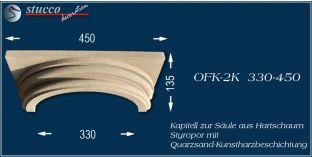 Säulenkapitell-Hälfte mit Beschichtung OFK-2K 330/450