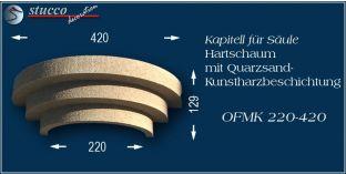 Kapitell-Hälfte für Säule mit Beschichtung OFMK 220/420