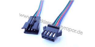Anschlusskabel zu RGB LED Strips mit 1 Stecker und 1 Buchse
