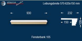 Komplette Fensterbank Berlin 105 570-620-150