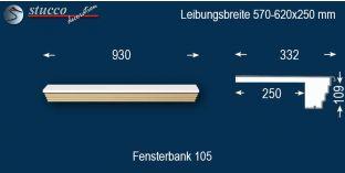 Komplette Fensterbank Wuppertal 105 570-620-250