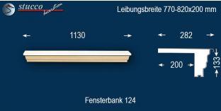 Komplette Fensterbank Solingen 124 770-820-200