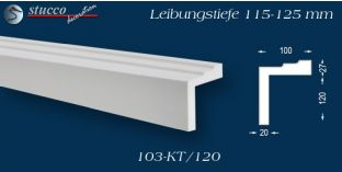 L-Profil für Laibung und Faschen Bangkok 103-KT 115-125 mm