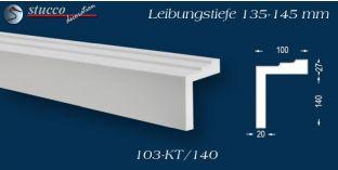 L-Profil für Laibung und Faschen Bangkok 103-KT 135-145 mm