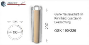 Glattes Säulenschaft-Viertel mit Beschichtung OSK 190/226