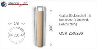 Glattes Säulenschaft-Viertel mit Beschichtung OSK 250/286