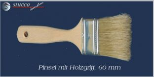 Pinsel mit Holzgriff, 60 mm