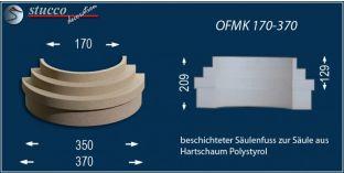 Säulenfuß-Hälfte mit Beschichtung OFMK 170/370