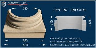 Säulensockel-Hälfte mit Beschichtung OFK-2K 280/400