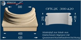 Säulensockel-Hälfte mit Beschichtung OFK-2K 300/420