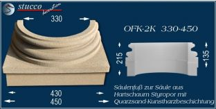 Säulensockel-Hälfte mit Beschichtung OFK-2K 330/450