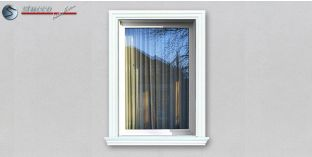 19. Fassaden Idee: Hausfassade mit Fensterverzierung / Türverzierung