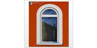 107. Fassaden Idee: flexible Stuckleisten zur Fensterumrandung / Türumrandung mit Außenstuck