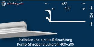 Stuckprofil für kombinierte Beleuchtung Dortmund 400+209