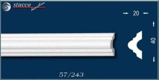 Styropor Deckenleisten und Wandleisten, Zierleisten Nantes 57